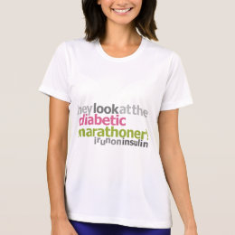 Diabetic Marathoner - I Run On Insulin T-Shirt