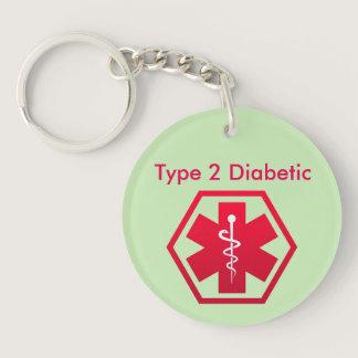 Diabetic Medical Alert Keychain