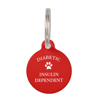 Diabetic Medical Alert Pet Tag