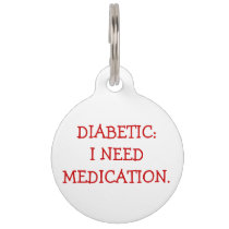 Diabetic Medical Alert Tag for Dogs