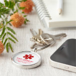 Diabetic Medical Information Keychain