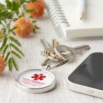 Diabetic Medical Information Keychain
