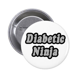 Diabetic Ninja 2 Inch Round Button