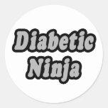 Diabetic Ninja Classic Round Sticker