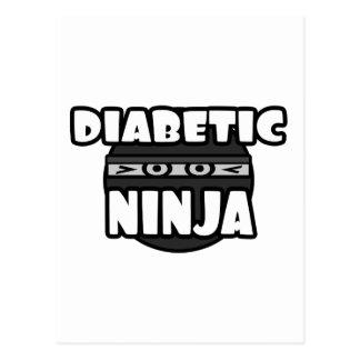 Diabetic Ninja Postcard
