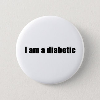 Diabetic Pinback Button