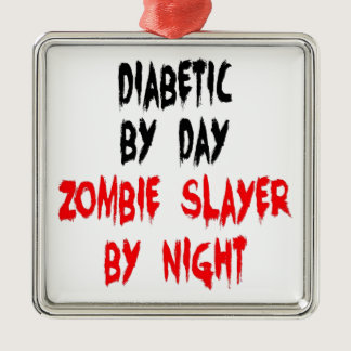 Diabetic Zombie Slayer Metal Ornament