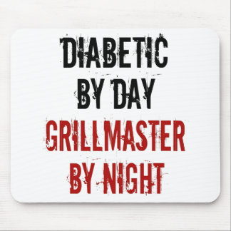 Diabético de Grillmaster Tapetes De Ratón