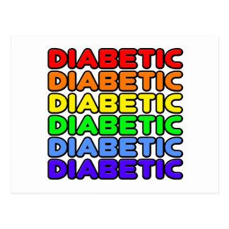 Diabético del arco iris postales
