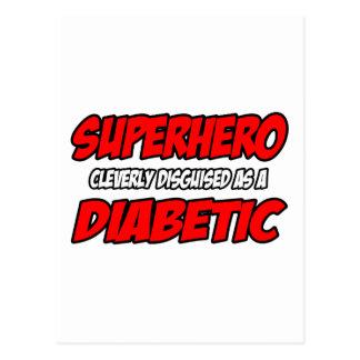 Diabético del super héroe… postal