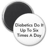 Diabetics Do It Fridge Magnet