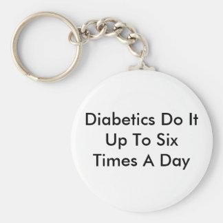 Diabetics Do It Basic Round Button Keychain