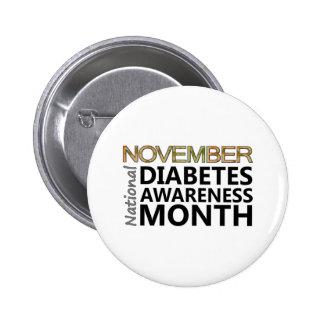 Diabetics November Diabetes Awareness Month Button