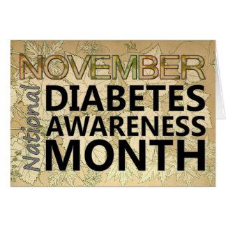 Diabetics November Diabetes Awareness Month Card