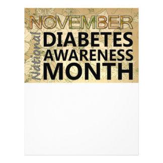 Diabetics November Diabetes Awareness Month Fall Flyer