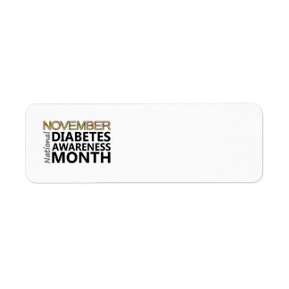 Diabetics November Diabetes Awareness Month Label