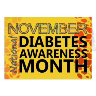 Diabetics November Diabetes Awareness Month Leaves Stationery Note Card