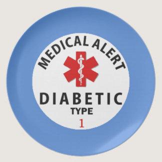 DIABETIES TYPE 1 MELAMINE PLATE