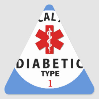 DIABETIES TYPE 1 TRIANGLE STICKER