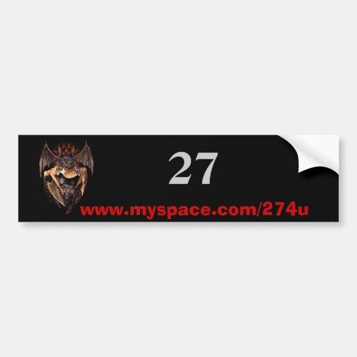 diablo, 27, www.myspace.com/274u etiqueta de parachoque