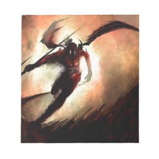 Diablo abstracto de Angel Dark Bloc De Notas