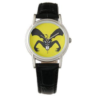 Diablo amarillo y negro reloj