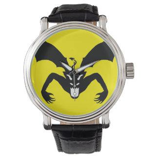 Diablo amarillo y negro relojes de mano