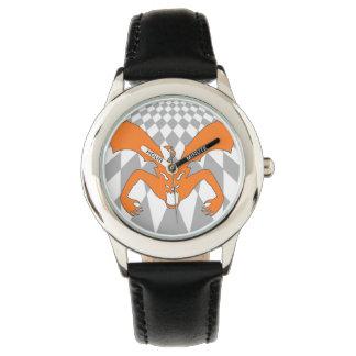 Diablo anaranjado reloj