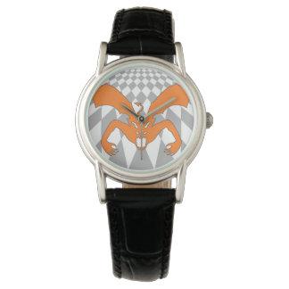 Diablo anaranjado reloj de mano