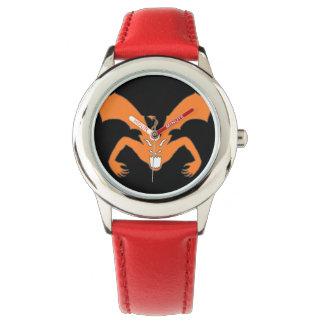 Diablo anaranjado relojes