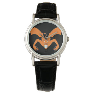 Diablo anaranjado relojes de mano