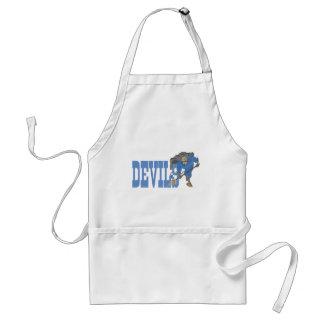 Diablo azul delantal