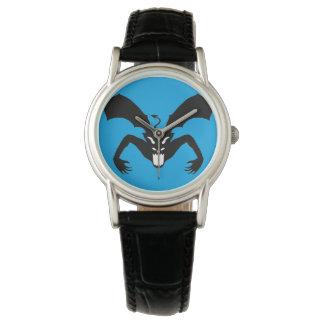 Diablo azul y negro relojes de pulsera