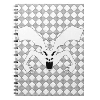 Diablo blanco libro de apuntes con espiral