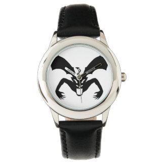 Diablo blanco y negro relojes de pulsera