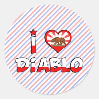 Diablo, CA Round Sticker