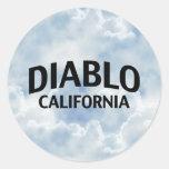 Diablo California Pegatinas Redondas