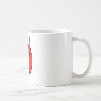 Diablo chocado en sombras tazas de café