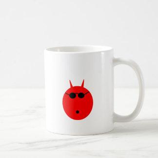 Diablo chocado tazas de café