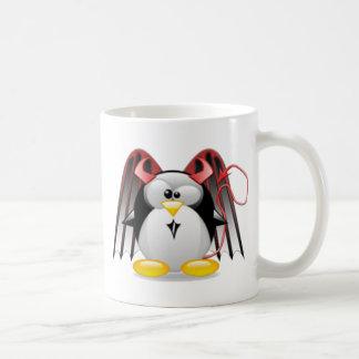 Diablo con alas Tux Tazas De Café