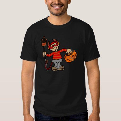 Diablo de Halloween Camisas