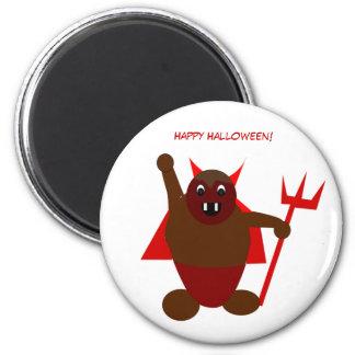 Diablo de Halloween Imán Redondo 5 Cm