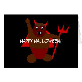 Diablo de Halloween Tarjeta De Felicitación