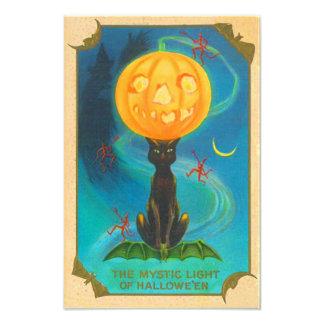Diablo de la bruja del gato negro de la linterna d cojinete