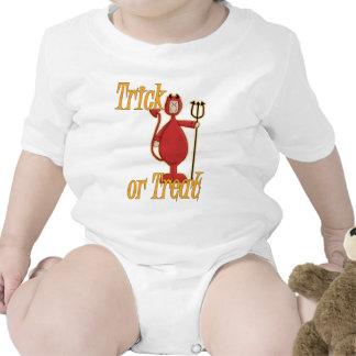 Diablo de Li'l del truco o de la invitación Traje De Bebé