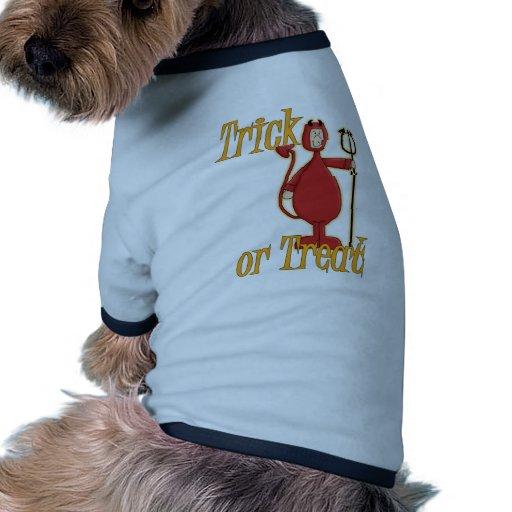 Diablo de Li'l del truco o de la invitación Camiseta Con Mangas Para Perro
