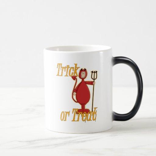 Diablo de Li'l del truco o de la invitación Taza De Café