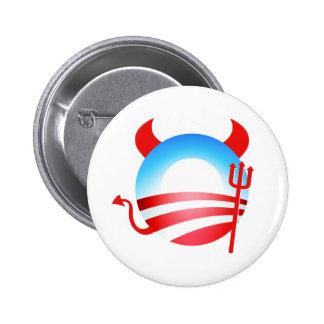 Diablo de Obama Pin Redondo De 2 Pulgadas