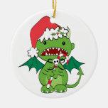 Diablo de Santa con el bastón de caramelo Ornamentos De Reyes