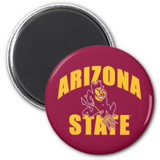 Diablo de Sun del estado de Arizona Imán Redondo 5 Cm